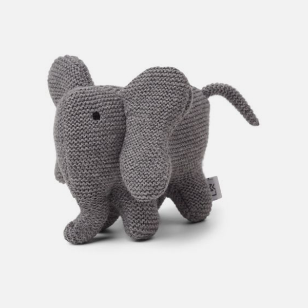Bilde av Kosedyr strikk Vigga Elephant Grey Melange