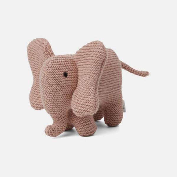 Bilde av Kosedyr strikk Vigga Elephant Rose