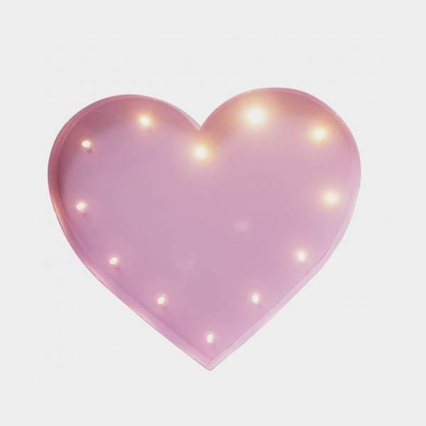 Bilde av Heart Lys Rosa 20cm