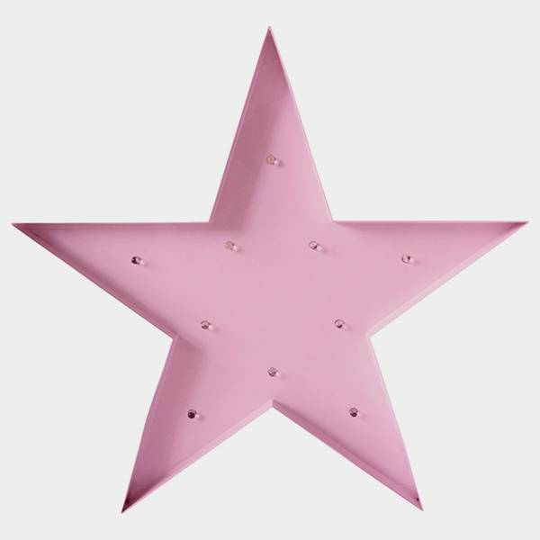 Bilde av Star Lys Rosa 30cm