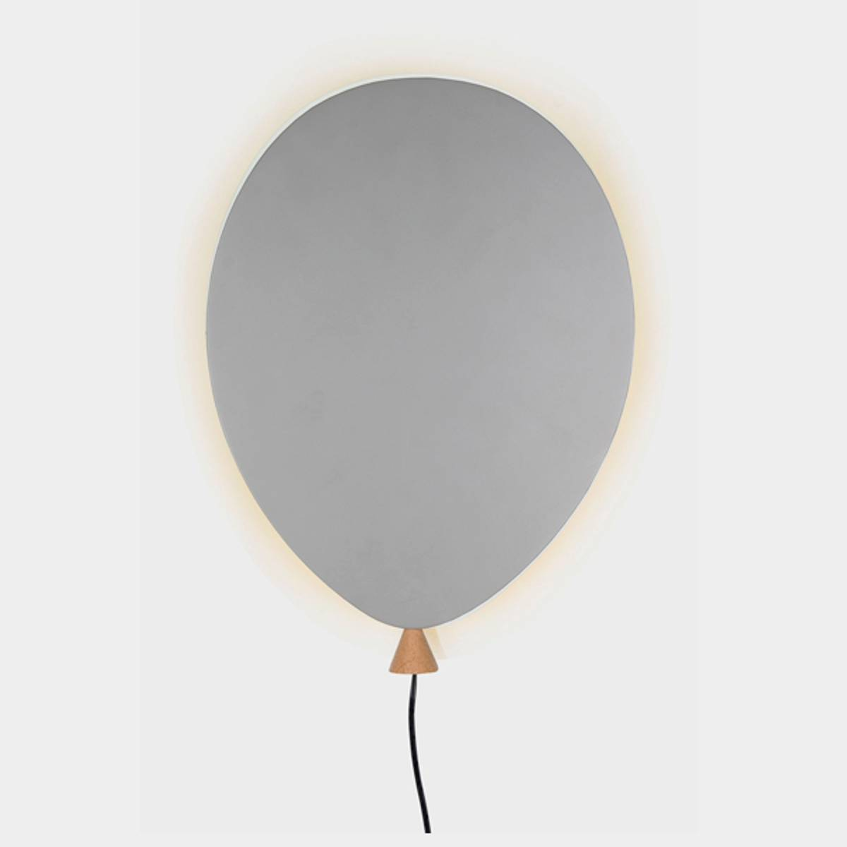 Vegglampe Ballong Grå