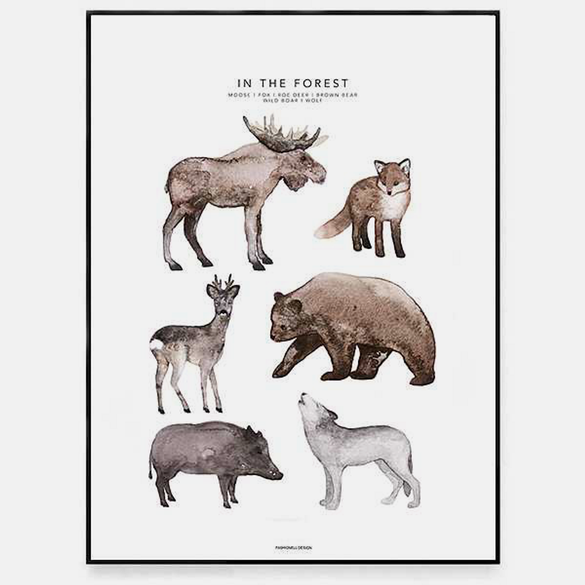 Poster In The Forest 30x40cm