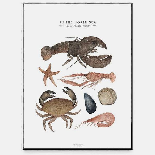 Bilde av Poster In The North Sea 30x40cm