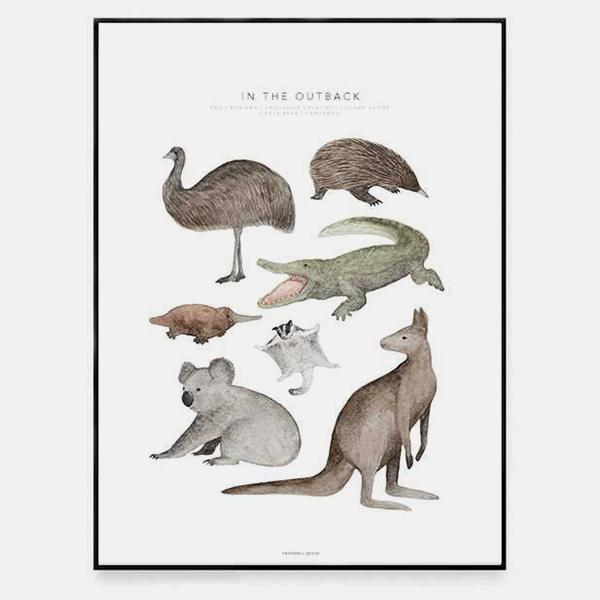 Bilde av Poster In The Outback 30x40cm