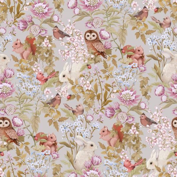 Bilde av Woodlands Wallpaper Lilac Grey