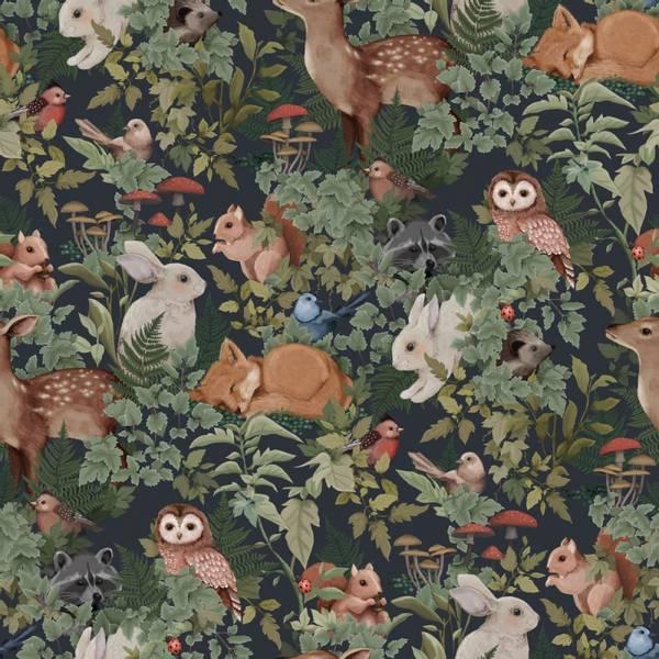 Bilde av Woodlands Wallpaper Charcoal
