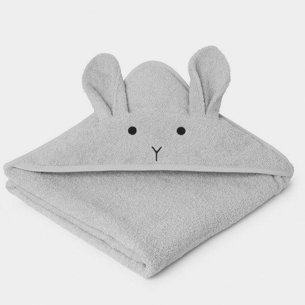 Bilde av Badehåndkle Augusta Rabbit Solid Dumbo Grey