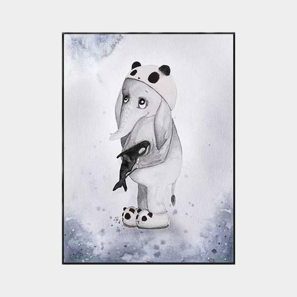 Bilde av Poster Elefanten Elias 30x40cm