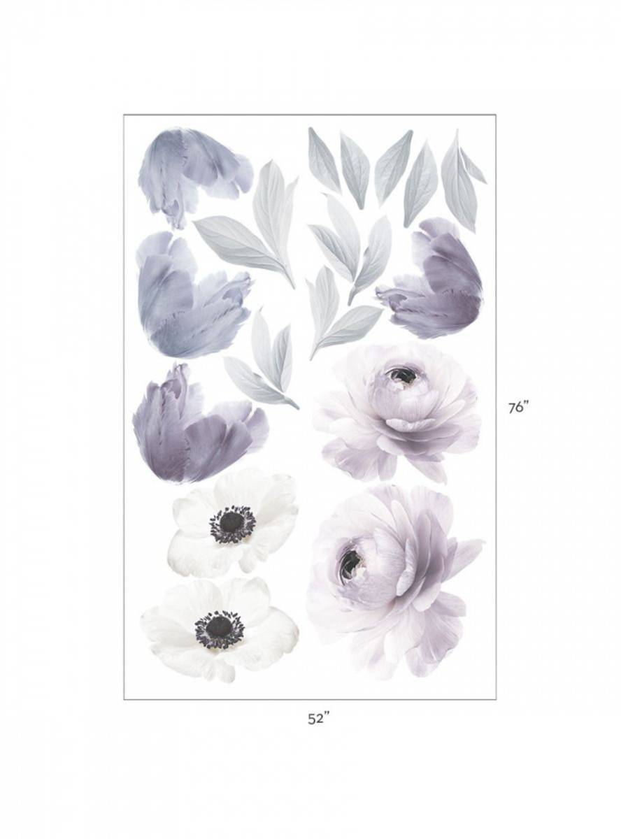 Wall Stickers Floral Purple
