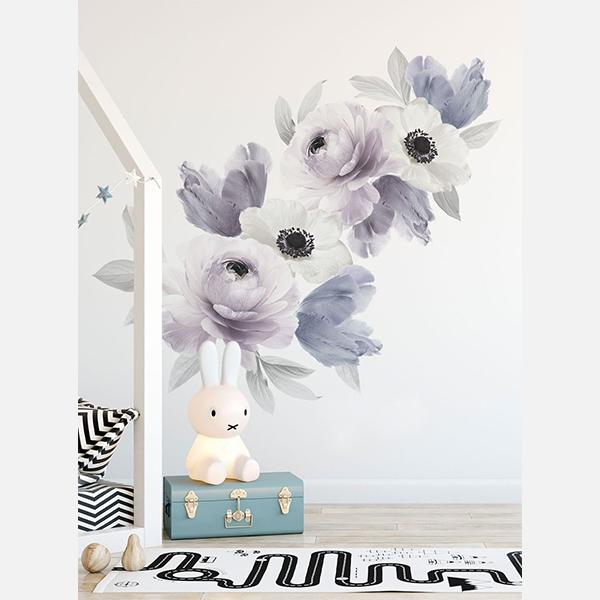 Bilde av Wall Stickers Floral Purple