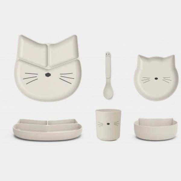 Bilde av Barneservise Jules Junior Bamboo Set Cat Creme de la Creme