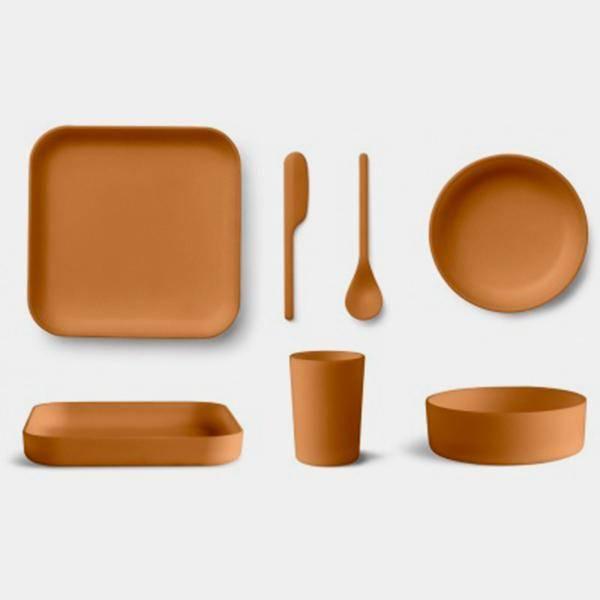 Bilde av Servise Aiko Bamboo Set Mustard