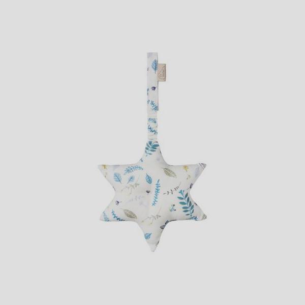 Bilde av Babygym Leke Star Pressed Leaves Blue