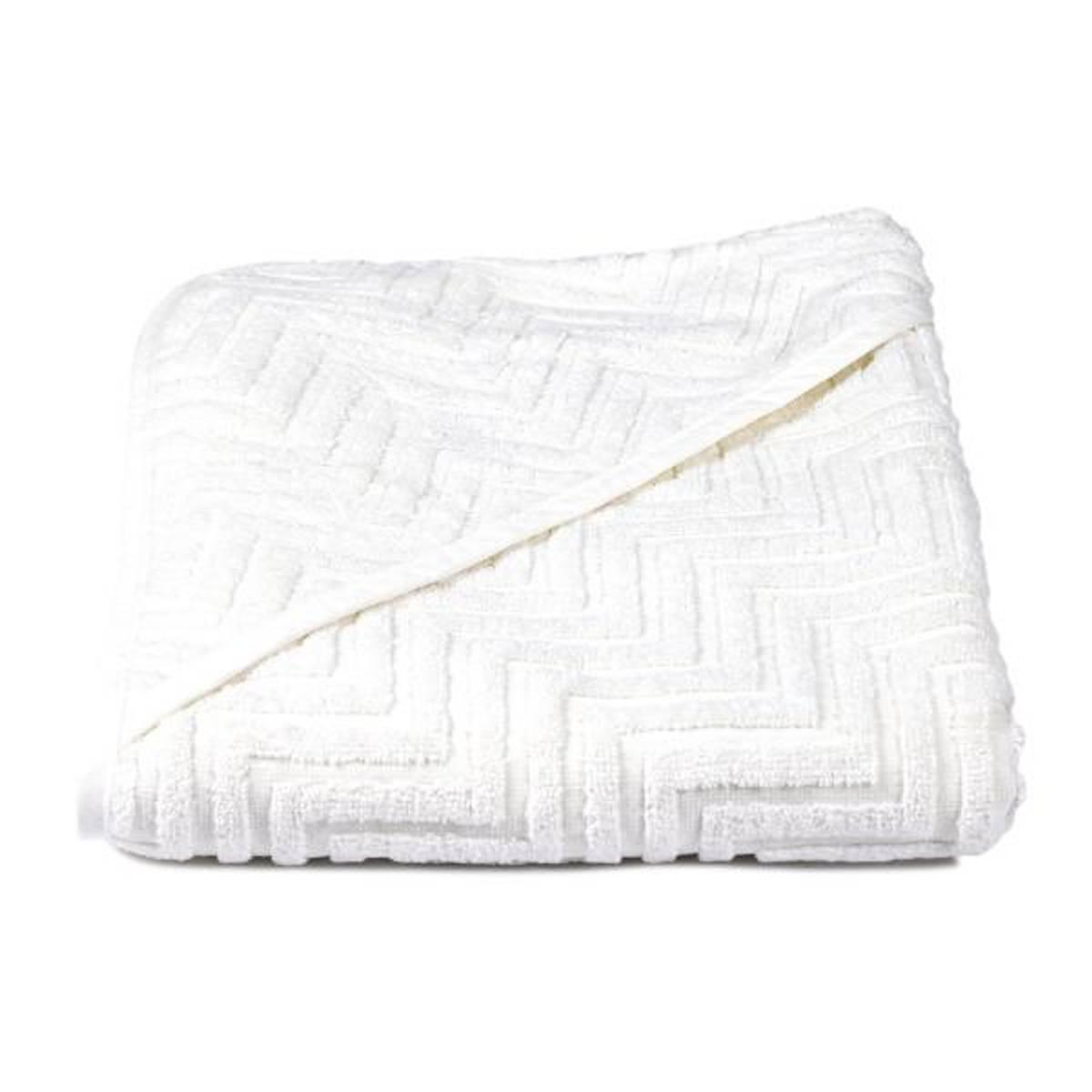 Badehåndkle Zigzag White