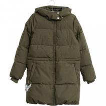Wheat - Down Coat Nanny Army Melange