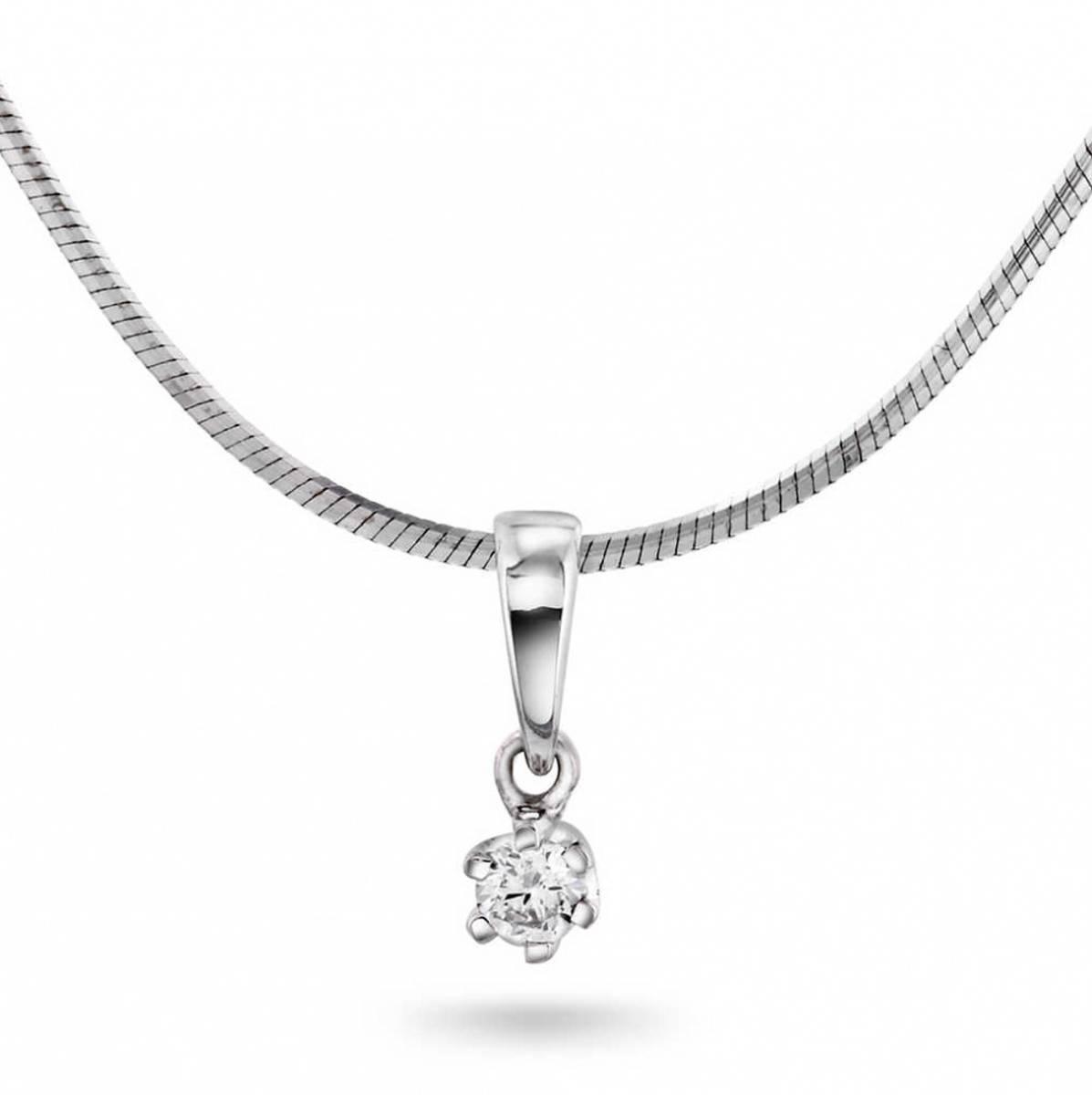 NC Anheng i hvitt gull med diamant 0,05 ct WSI2