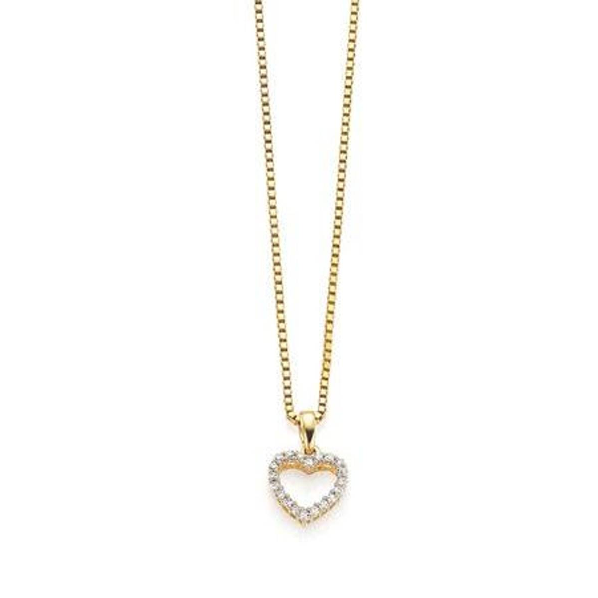 GD Forever Anheng i gull med diamanter 0,10ct