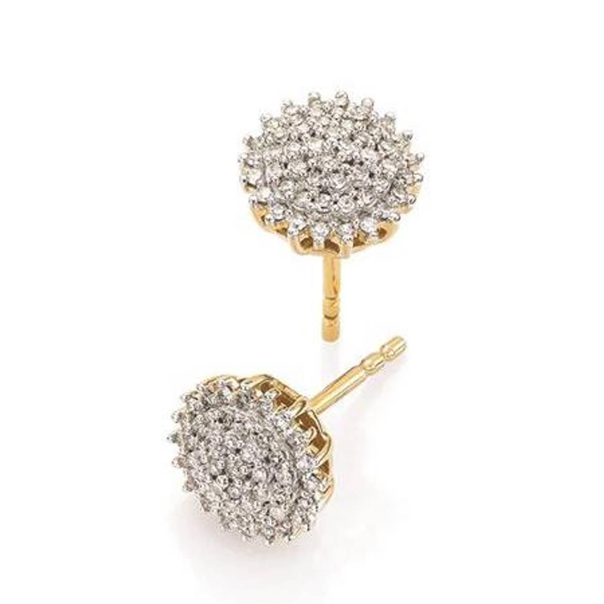GD 100 Grace Ørepynt i gull med diamanter 0,25ct W/SI