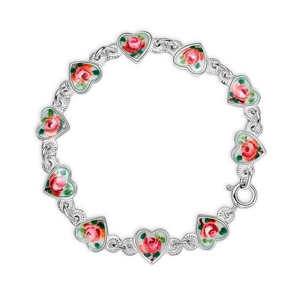 Bilde av Armbånd i sølv - Rose
