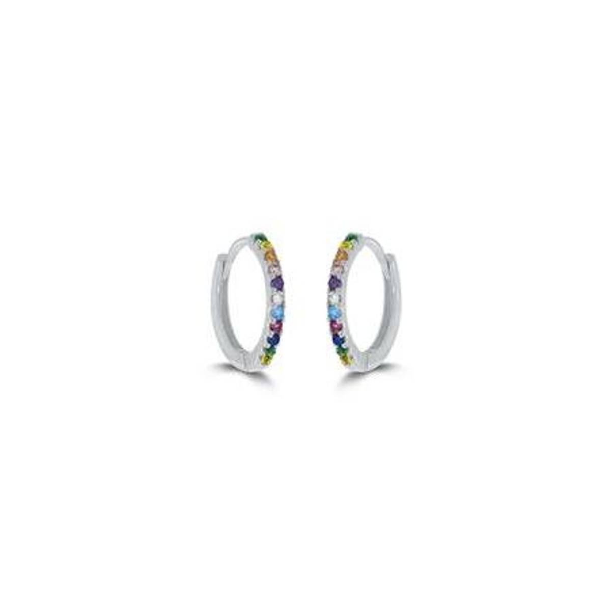 GD Classic øreringer i sølv med zirkonia