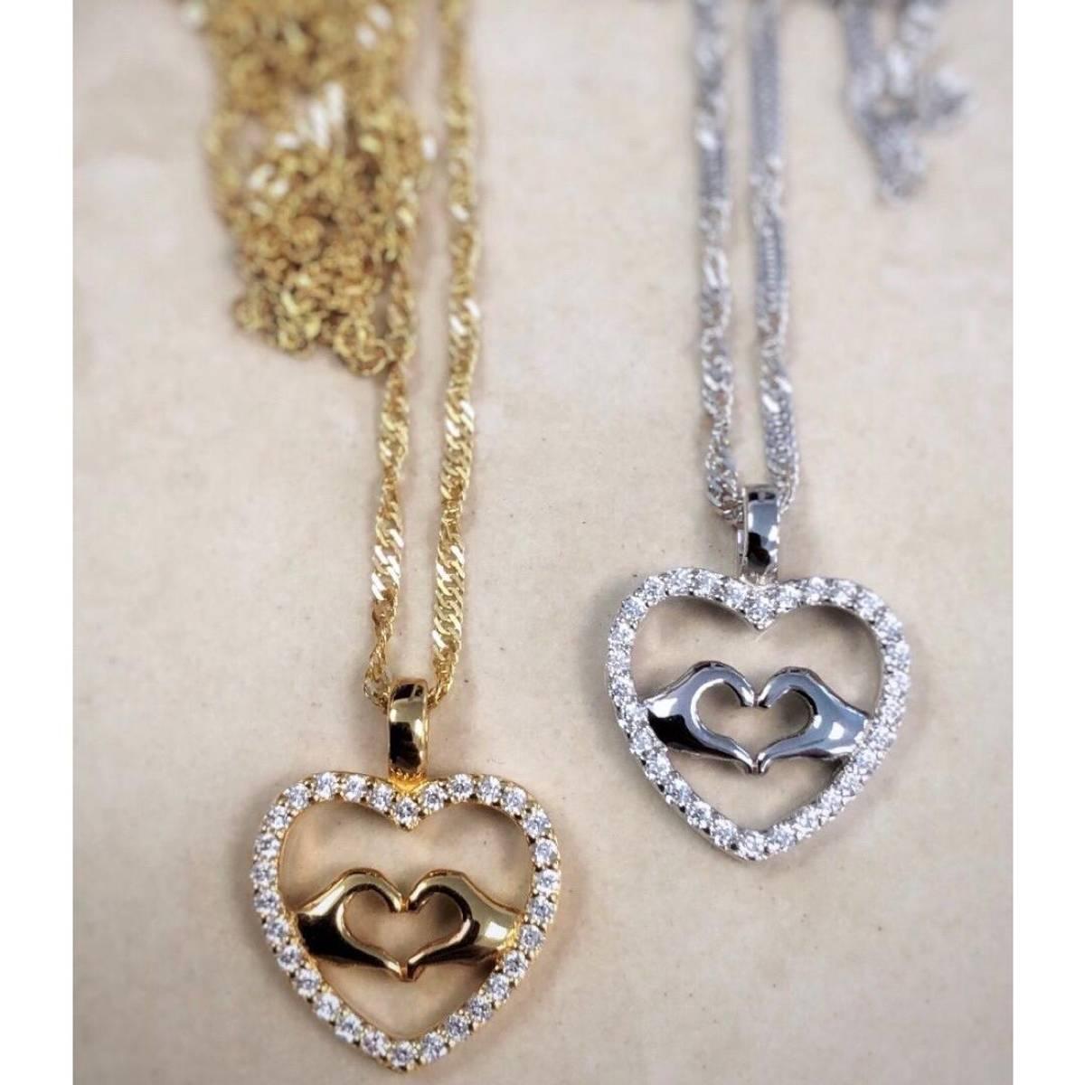 GD Signatur Love Forgylt/Sølv anheng i sølv