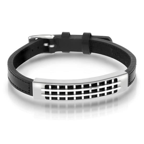 Bilde av Armbånd i sort karbon og sort