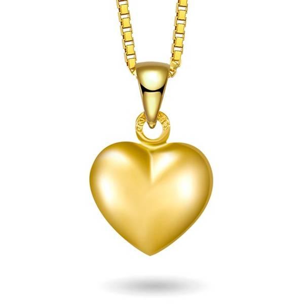 Bilde av Halskjede i gull - Hjerte