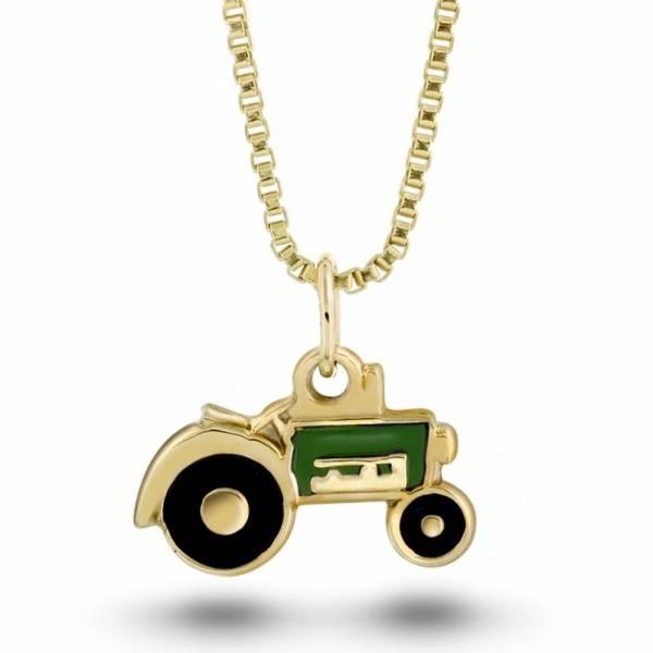 Bilde av Traktor i gull m/ grønn