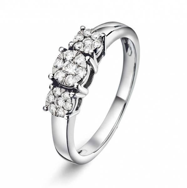 Bilde av Ring i hvitt gull med diamant