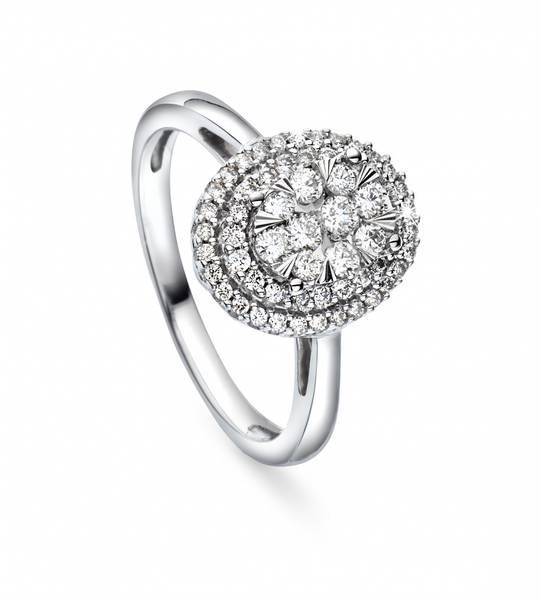 Bilde av Hvitt gull ring 0,50t w/si2