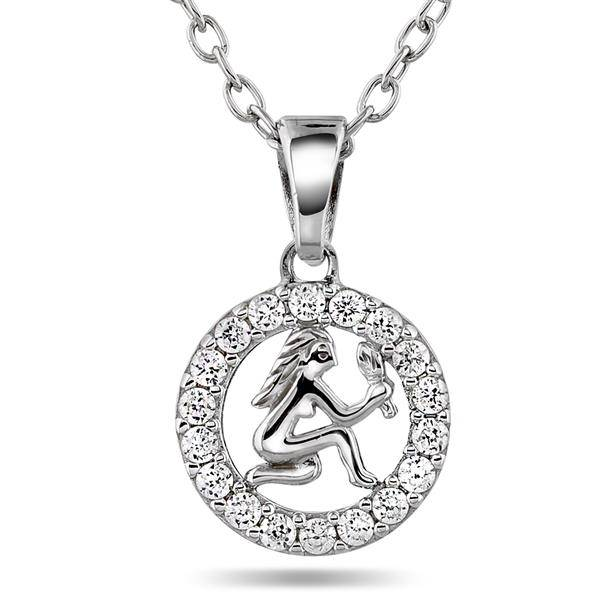 Bilde av Anheng i sølv med zirkonia