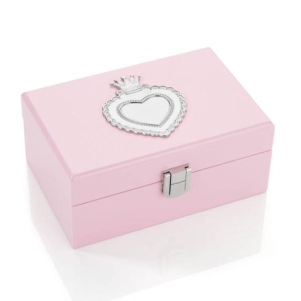 Bilde av Rosa smykkeskrin med hjerte i