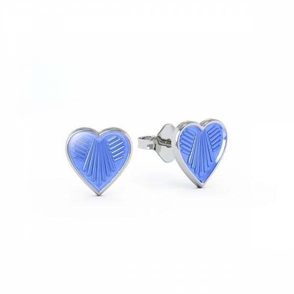 Bilde av Ørestikk i sølv - Lys blå