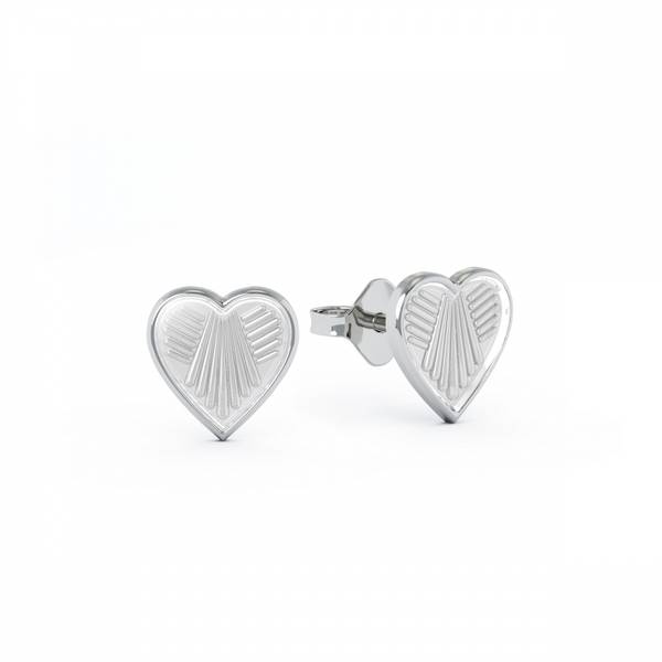 Bilde av Ørestikk i sølv - Hvite