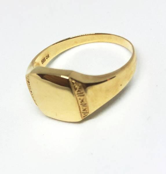 Bilde av Herre ring gult gull
