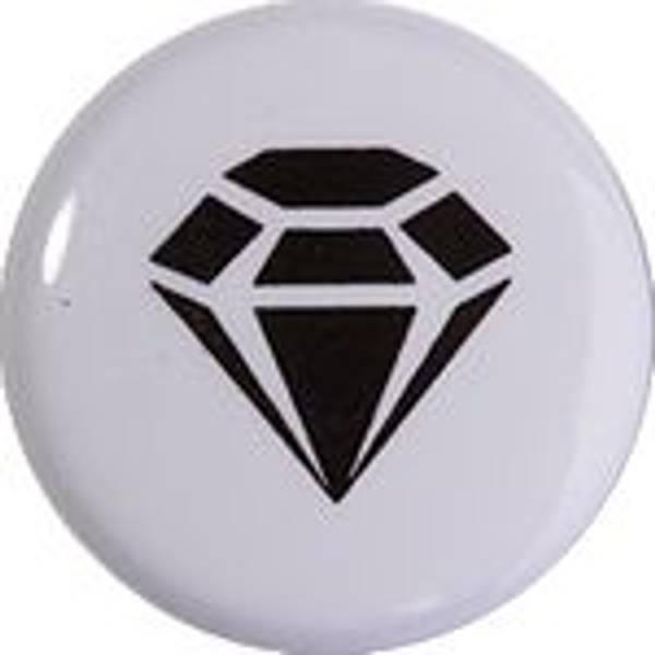 Bilde av Metall trykknapper med kappe, 10 mm - Diamant