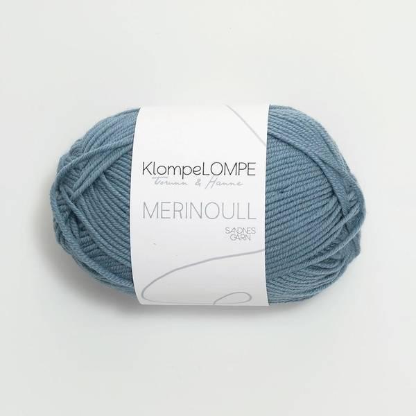Bilde av KlompeLOMPE Merinoull - 6033 Jeansblå