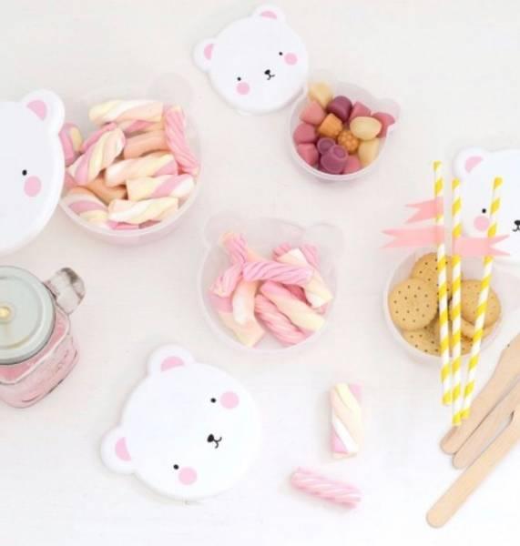 Bilde av ALLC - Snack boxes 4 pk, Bear Pink