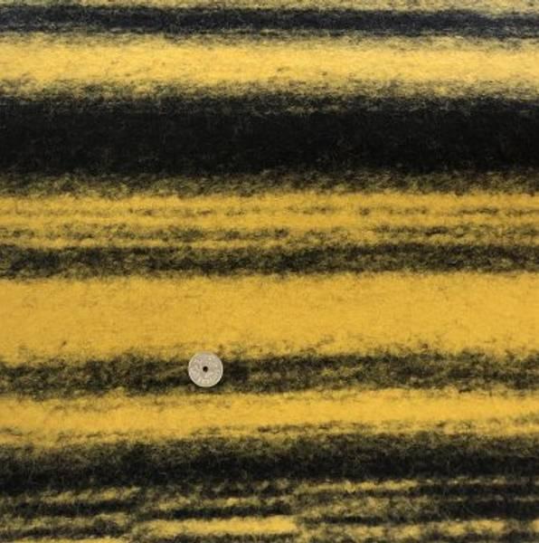 Bilde av Lett tovet i svart og sennepsgul - Ull
