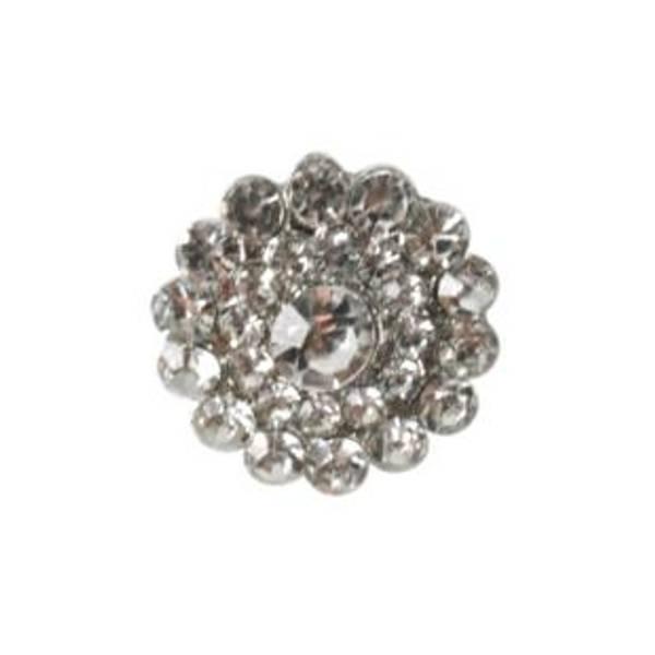 Bilde av Bling knapp, metall/diamanter - 21 mm