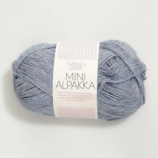 Bilde av Mini Alpakka - 6221 Lys Blå melert