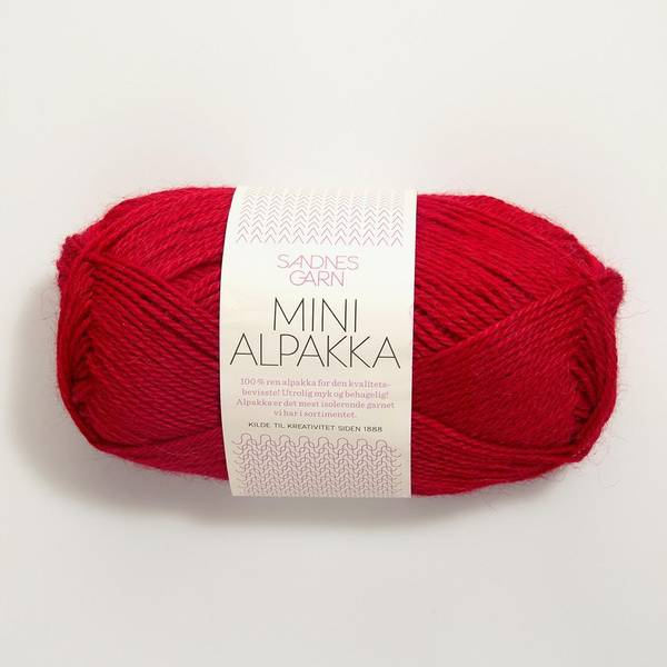 Bilde av Mini Alpakka - 4219 Rød