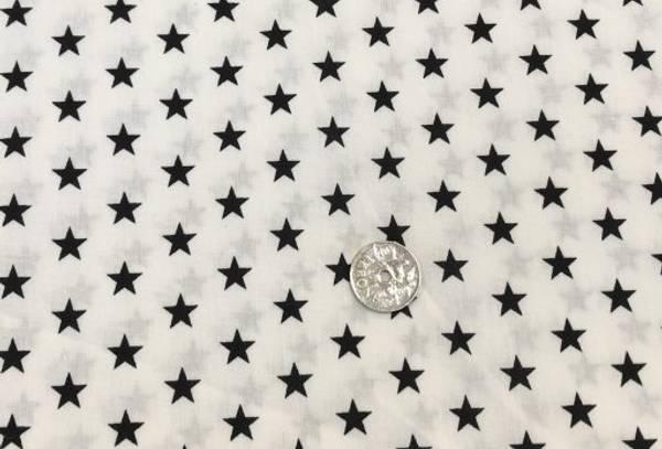 Bilde av Hvit med svarte stjerner - Fast Bomull