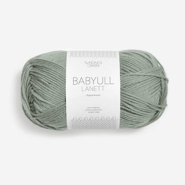 Bilde av Babyull Lanett - 8521 Støvet Lys Grønn