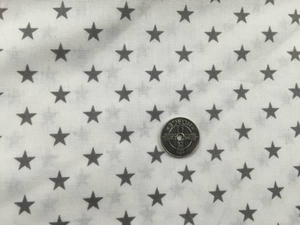 Bilde av Hvit med grå stjerner - Fast Bomull