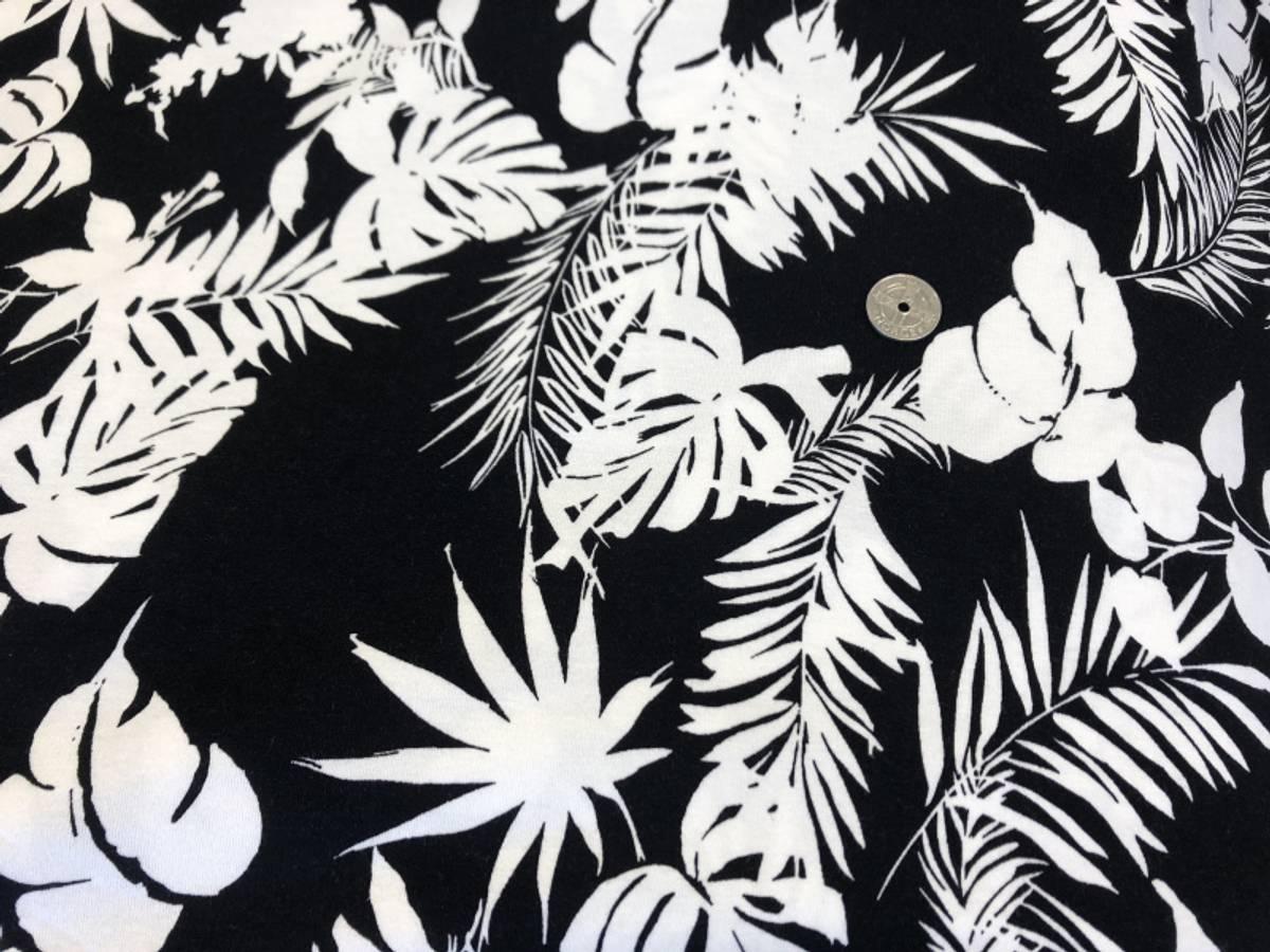 20 cm - Leaf  Black and White - Viskosejersey