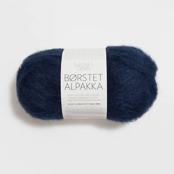 Bilde av Børstet Alpakka - 5575 Marineblå