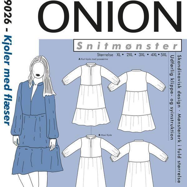 Bilde av Onion 9026 - Kjoler Med Flæser, Str. XL - 5XL