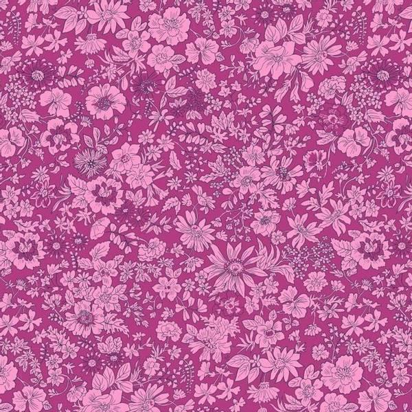 Bilde av Emily Silhouette Flower (Lilla), Liberty Fabrics