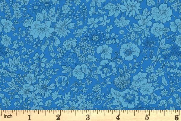 Bilde av Emily Silhouette Flower (Blå), Liberty Fabrics -